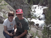 Carl, Jodie at Firehole Falls, Yellowstone