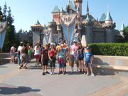 Family at Disneyland, Sleeping Beauty Castle