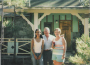 ex Tris along with my Grandad and step Grandmother in front of their cabin in Wrightwood California