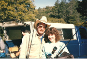 Jodie with Doug Rodd at Angeles Oaks Retreat in 1990