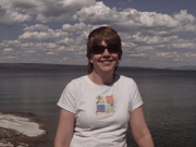 Jodie at Yellowstone Lake