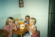Kids, Michelle, Danielle, Timothy Lunch 2000