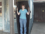 Jodie in Casket at Knotts Berry Farm