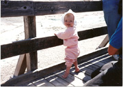 Michelle at 10 months, Yellowstone National Park