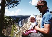 Michelle in Yellowstone again, 1994