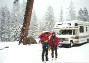 Camping in Sequoia National Park, May 1994, Jodie, Carl