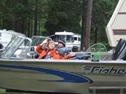 Timothy, boat at Lake Selmac, Holy Rovers