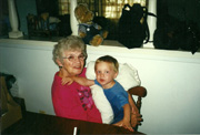 Nana, Jodie's Mom with Timothy, 2000