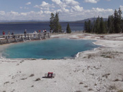 West Thumb Geyser Basin Hot Springs, Yellowstone