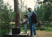 Randy Viall with daughter Heather in Yosemite