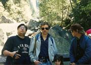 Yosemite trip, 1995, Randy Viall, Bruce Strohmeyer, Carl, & Heather