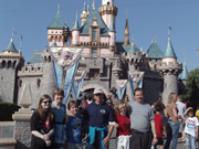 Family at Disneyland, including Uncle Bruce