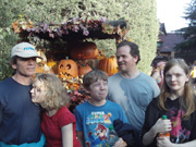 Family in front of Pumpkin Display, Disneyland