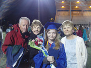 Michelle Graduation with Aunt Judy, Diane, and Uncle Bruce Senior