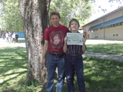 Timothy with Dad (Carl), North Middle School Graduation