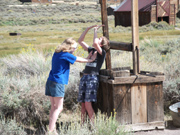 Bodie Ghost Town, Danielle and Timothy being silly