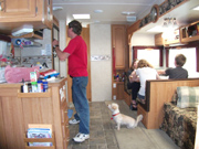 Inside Wildcat Trailer, summer 2012