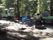 Campsite at Trillium Lake Oregon, Space 49