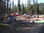 Relaxing at Crater Lake Camp site 2014