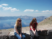 Michelle, Danielle at Crater Lake 2014