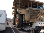 Mining Truck shuts down US 50 Nevada